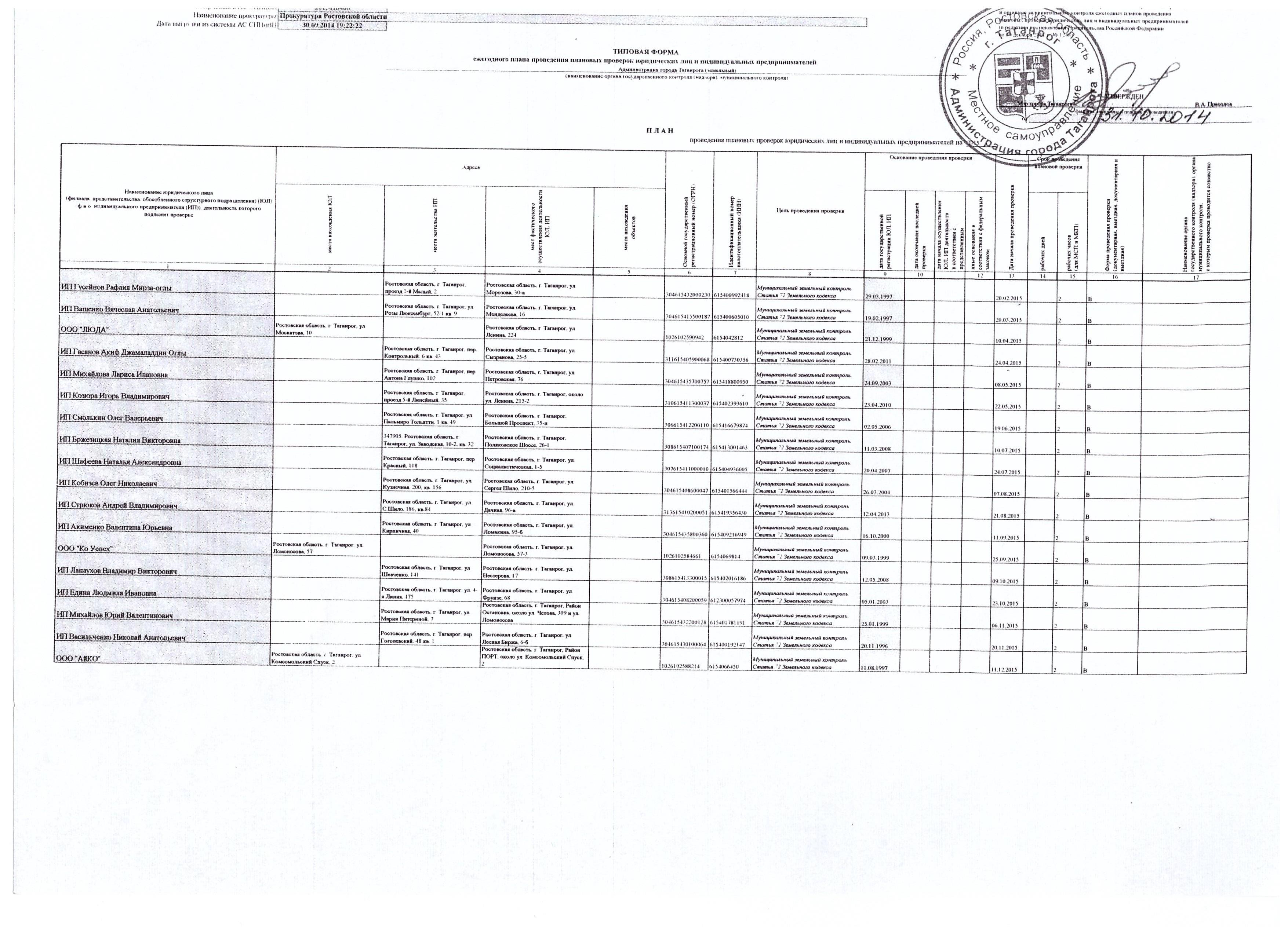 холодных прокуратура нсо план проверок на 2016 повседневной